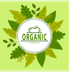 organic eco product poster banner logo sticker vector image