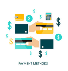 payment methods flat vector image
