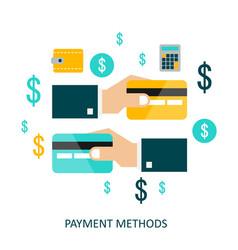 payment methods flat vector image