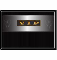 poster with a gold inscription vip vector image
