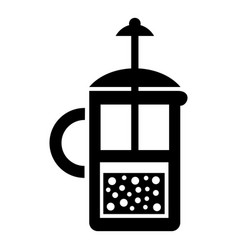 press kettle icon simple style vector image