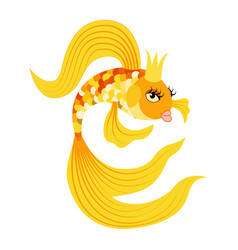 Queen gold fish from a fairy tale vector
