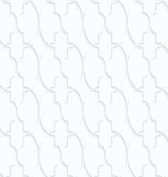 Quilling white paper marrakech with ovals grid vector