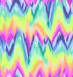 rainbow chevron ikat pattern vector image