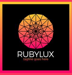 ruluxury logo - jewelry shop vector image