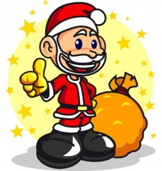 santa boy vector image