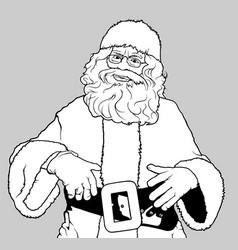 santa claus standing vector image