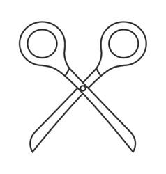 scissor tool isolated icon vector image