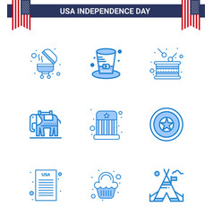 Set 9 blues on 4th july usa independence day vector