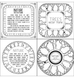 Set of nature designs vector