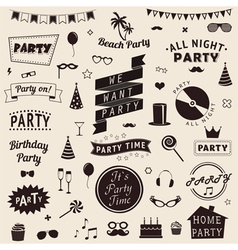 set of party icons set of party icons vector image