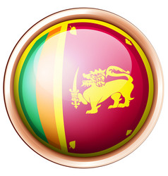 Sri lanka flag on round button vector