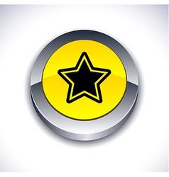 Star 3d button vector