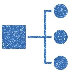 Structure diagram grainy texture icon vector
