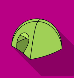 tent icon in flate style isolated on white vector image