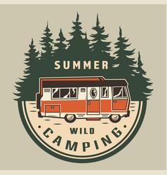 Vintage summer outdoor adventure logo vector