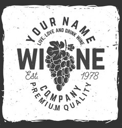 Winery badge sign or label vector
