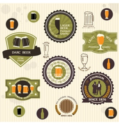 Beer badges and labels in vintage style vector image vector image