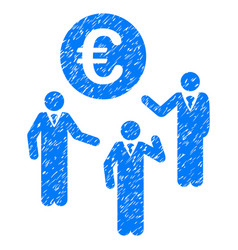 Euro discussion grunge icon vector