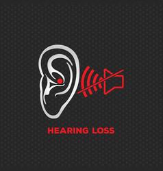hearing loss logo icon design vector image vector image