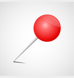 red office pin realistic drawing pin vector image