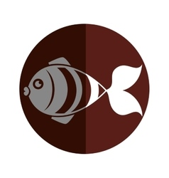 sea fish emblem icon vector image