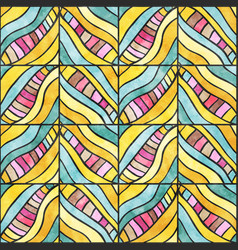 colored zigzag pattern vector image vector image