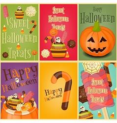 halloween posters vector image vector image