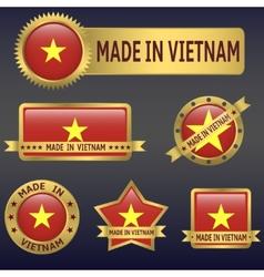 made in Vietnam vector image