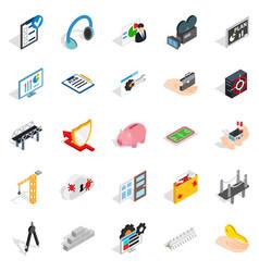optimisation icons set isometric style vector image