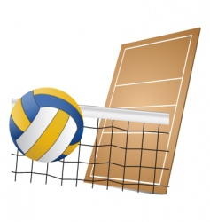 volleyball design elements vector image