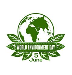 world environment day logo design vector image vector image