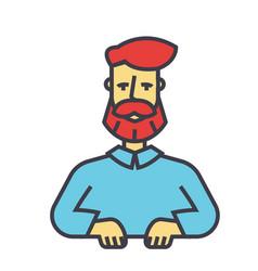 Bearded man beard boss manager barbershop vector