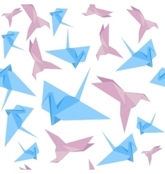 Origami Paper Crane Background Pattern vector image