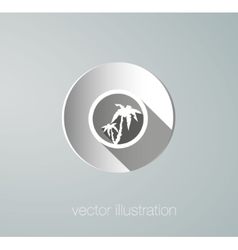 paper icon palms vector image