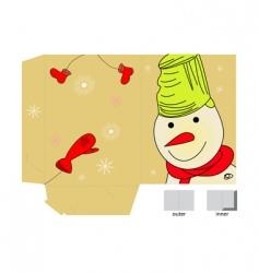 Christmas folder vector image