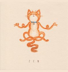 Meditation cat vector