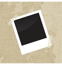 Photo frame on old vintage grungy background vector image vector image