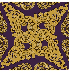 Seamless pattern baroque vector image vector image