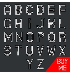 Simple line hipster geek abstract retro alphabet a vector