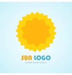 Sun icon set vector image vector image