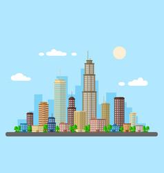 urban landscape picture vector image vector image