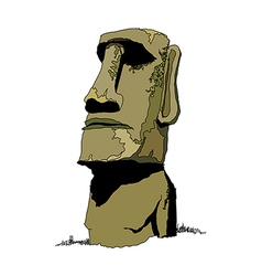 A stone statue stand on vector