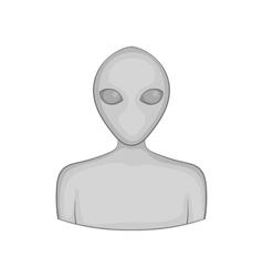 Alien icon black monochrome style vector image vector image