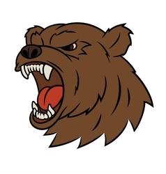 Angry bear head 2 vector