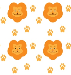 Animal lion icon pattern vector image