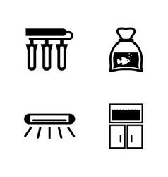 Aquarium accessories simple related icons vector