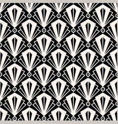 Art deco graphic background seamless black vector