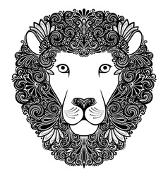 Artistic lion design vector