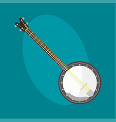 banjo guitar icon stringed musical instrument vector image